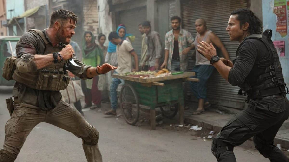 Chris Hemsworth im Strassenkampf in Tyler Rake Extraction