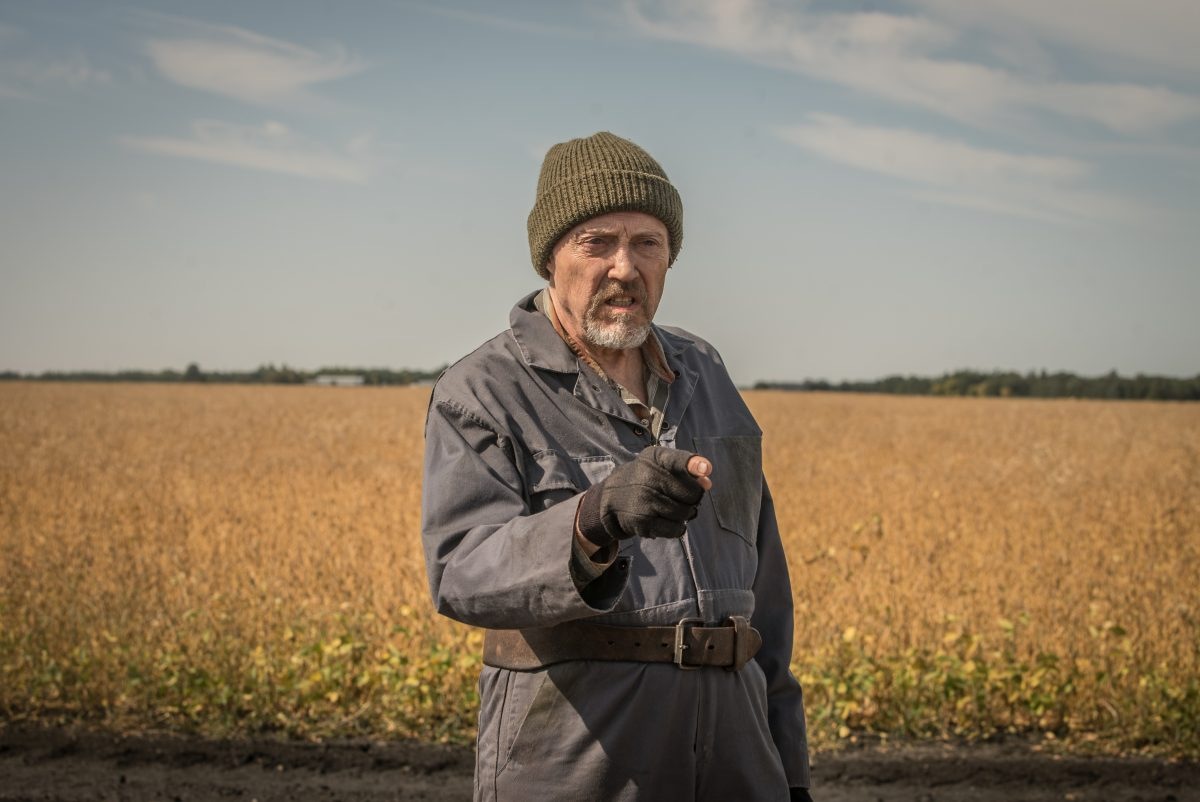 Christopher Walken als Percy Schmeiser .Percy wehrte sich 6 Jahre lang vor Gericht erfolgreich gegen Monsanto.